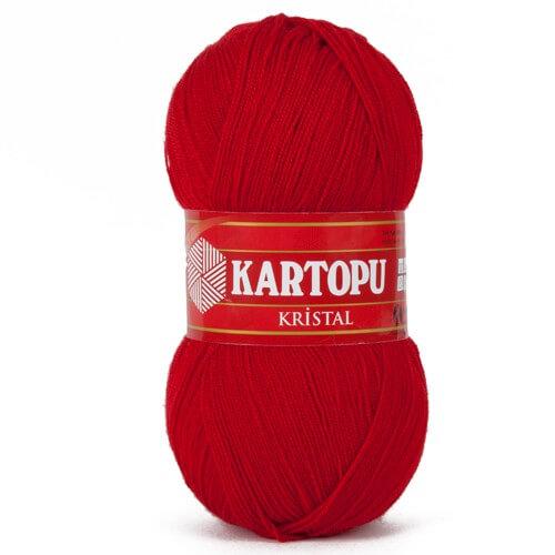 Kartopu Kristal Kırmızı El Örgü İpi - K125