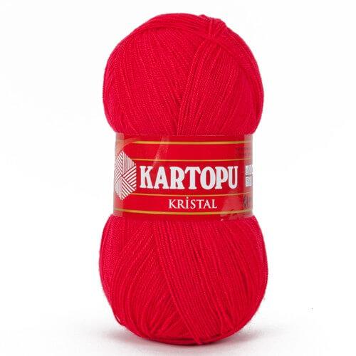 Kartopu Kristal Kırmızı El Örgü İpi - K141