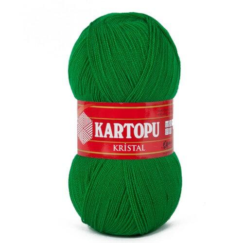 Kartopu Kristal Çimen Yeşili El Örgü İpi - K416