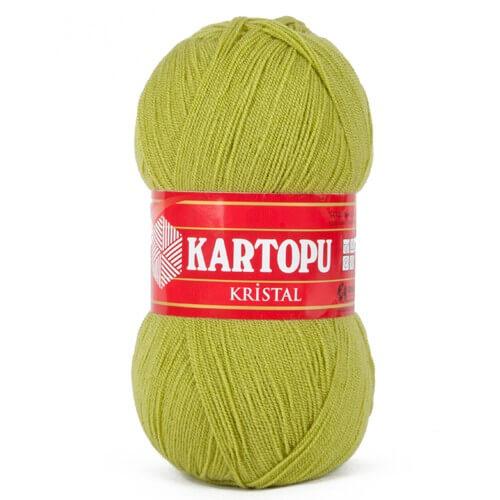 Kartopu Kristal Zeytin Yeşili El Örgü İpi - K442