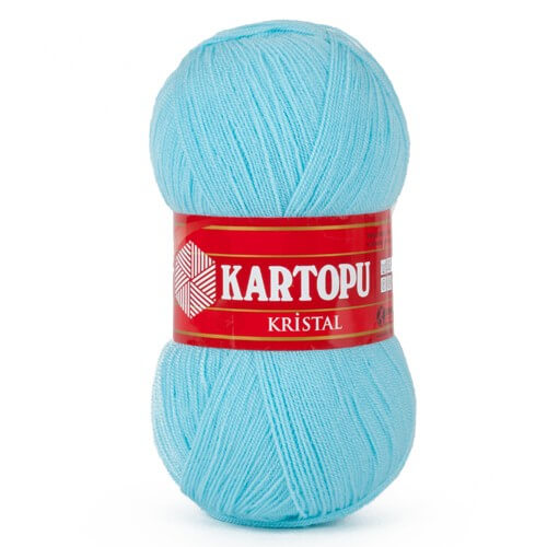 Kartopu Kristal Açık Mavi El Örgü İpi - K551