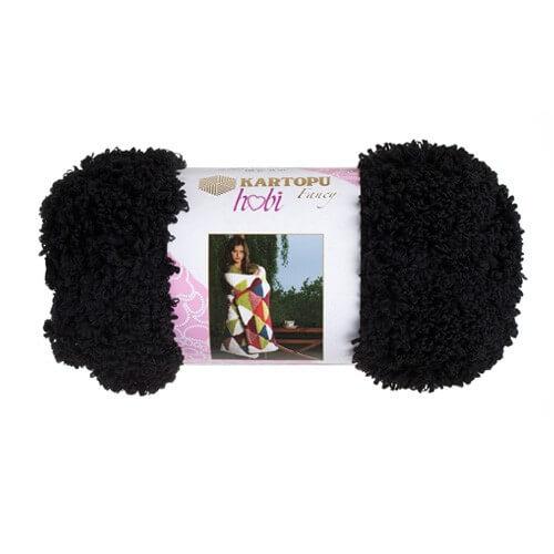 Kartopu Hobi Siyah El Örgü İpi - KF8000