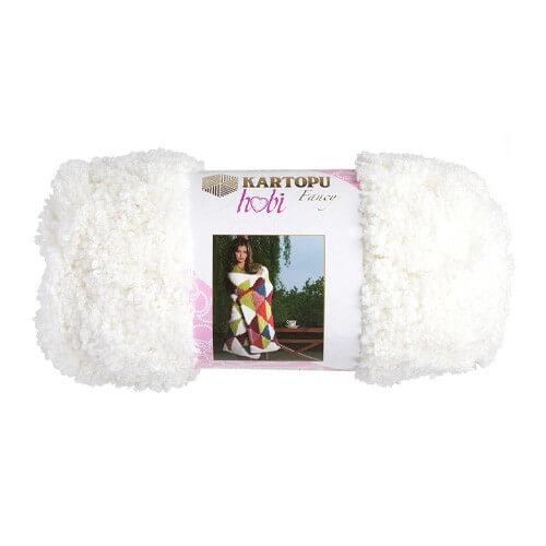 Kartopu Hobi Beyaz El Örgü İpi - KF8003