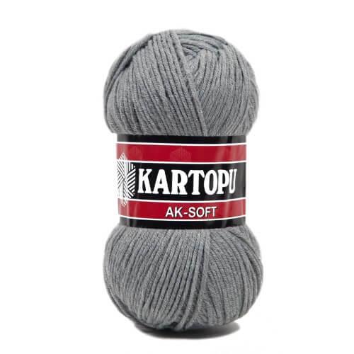 Kartopu Ak-Soft Gri El Örgü İpi - K1001