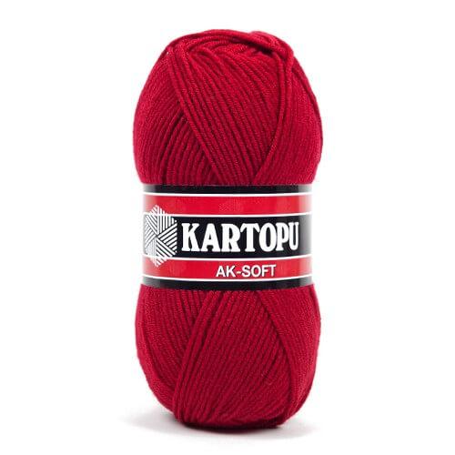 Kartopu Ak-Soft Kırmızı El Örgü İpi - K122