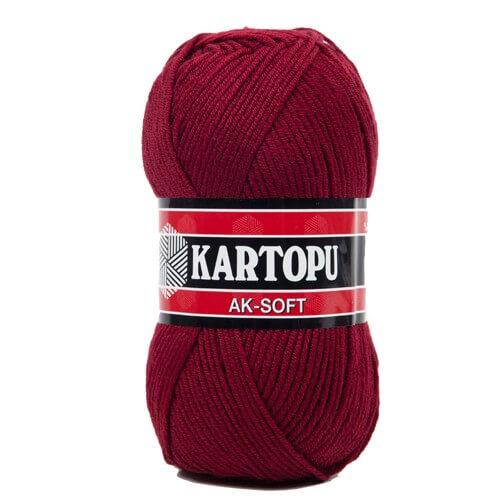 Kartopu Ak-Soft Bordo El Örgü İpi - K110