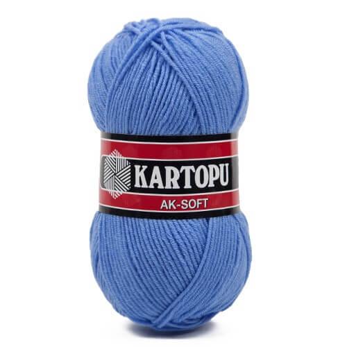 Kartopu Ak-Soft Mavi El Örgü İpi - K535