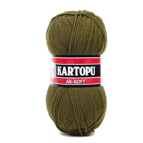 Kartopu Ak-Soft Koyu Yeşil El Örgü İpi - K410