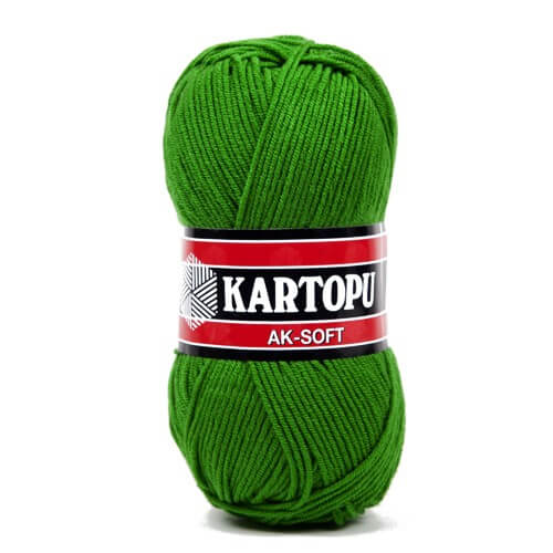 Kartopu Ak-Soft Yeşil El Örgü İpi - K392
