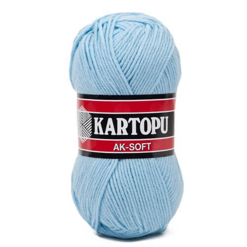 Kartopu Ak-Soft Açık Mavi El Örgü İpi - K540