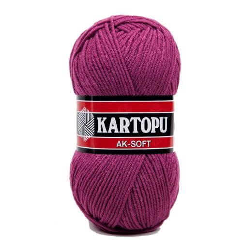 Kartopu Ak-Soft Mor El Örgü İpi - K736