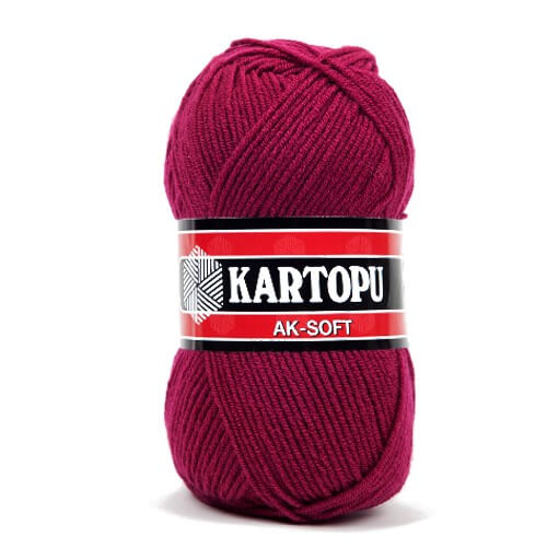Kartopu Ak-Soft Mor El Örgü İpi - K728