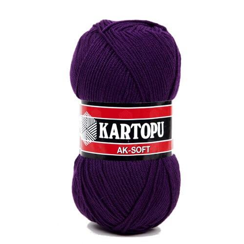 Kartopu Ak-Soft Patlıcan Moru El Örgü İpi - K725