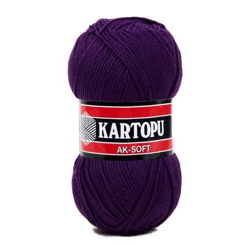 Kartopu Ak-Soft Koyu Mor El Örgü İpi - K721