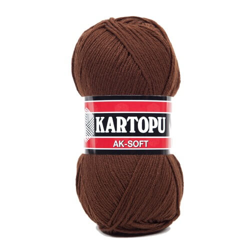 Kartopu Ak-Soft Koyu Kahverengi El Örgü İpi - K890