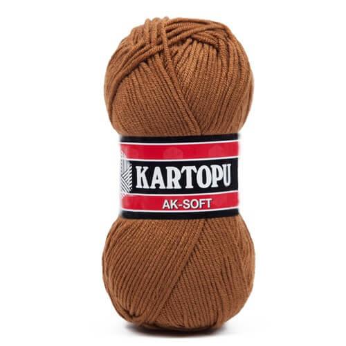 Kartopu Ak-Soft Kahverengi El Örgü İpi - K882