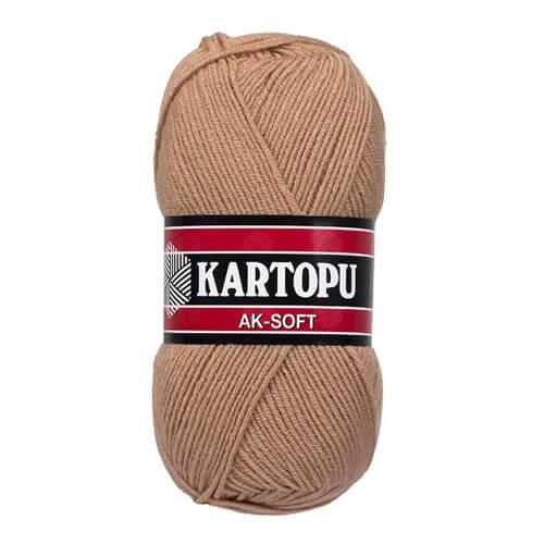 Kartopu Ak-Soft Bej El Örgü İpi - K863