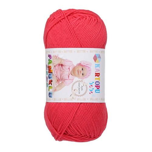 Kartopu Pamuklu Bebe Baby Cotton Nar Çiçeği Bebek Yünü - K812