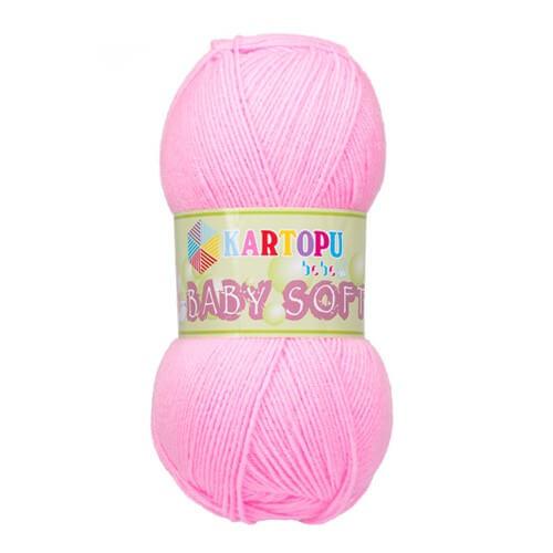 Kartopu Baby Soft Pembe Bebek Yünü - K774