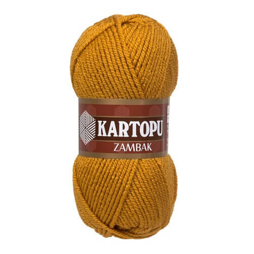 Kartopu Zambak  Hardal Sarısı El Örgü İpi - K831