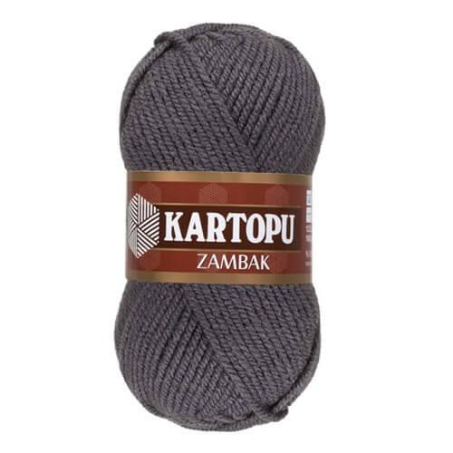 Kartopu Zambak Gri El Örgü İpi - K902