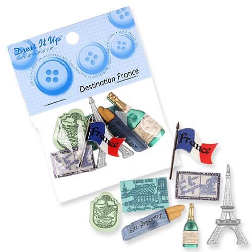 Kartopu Fransa Dekoratif Düğme - 3577