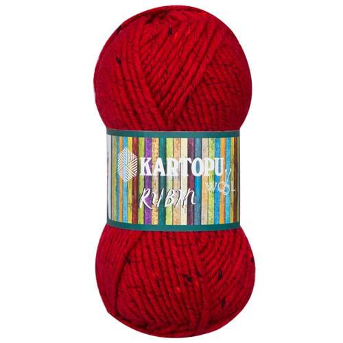 Kartopu Rubin Kırmızı El Örgü İpi - K420