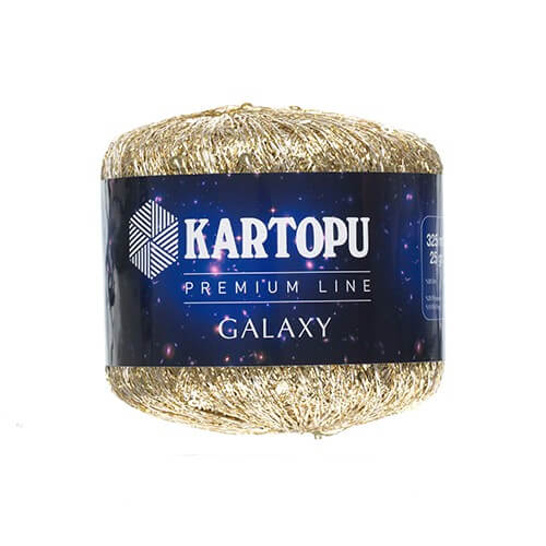 Kartopu 5'li paket Galaxy Altın El Örgü İpi - KF351