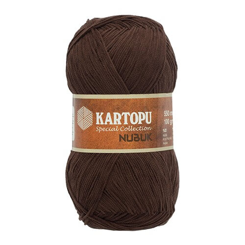 Kartopu Nubuk Koyu Kahverengi El Örgü İpi - TN990