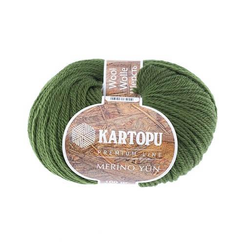Kartopu Merino Yeşil El Örgü İpi - K409