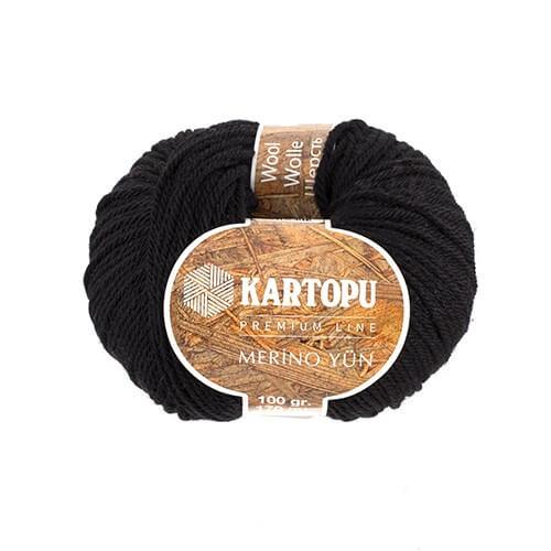 Kartopu Merino Siyah El Örgü İpi - K940