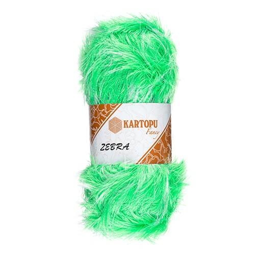 Kartopu 5'li paket Zebra Yeşil El Örgü İpi - KF963