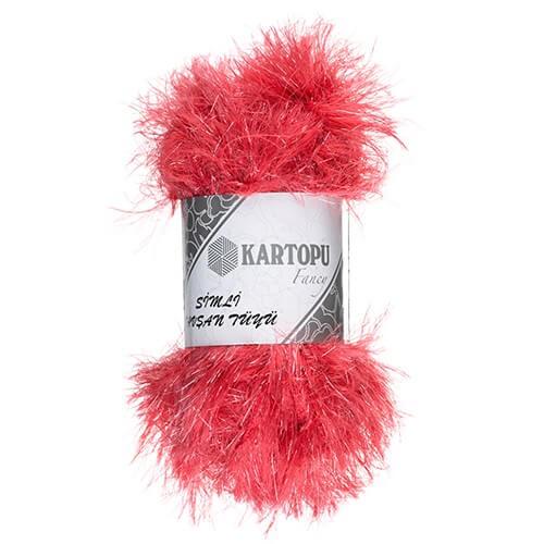 Kartopu 5'li paket Simli Tavşan Sakallı Tüyü Sakallı Nar Çiçeği El Örgü İpi - K812