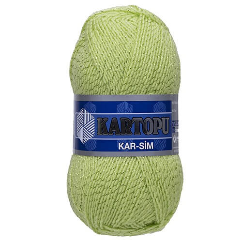 Kartopu 5'li paket Kar-Sim Yeşil El Örgü İpi - K439