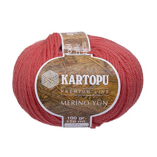 Kartopu Merino Turuncu El Örgü İpi - K260