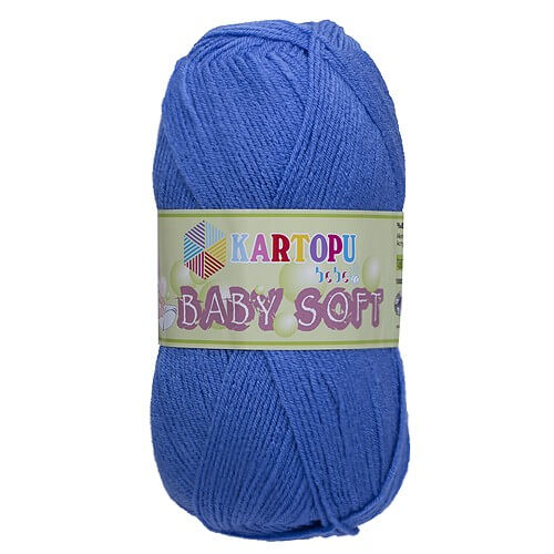 Kartopu Baby Soft Mavi Bebek Yünü - K536