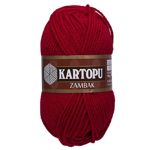 Kartopu Zambak Kırmızı El Örgü İpi - K125