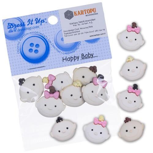 Kartopu Bebek Yüzü Dekoratif Düğme - 4882