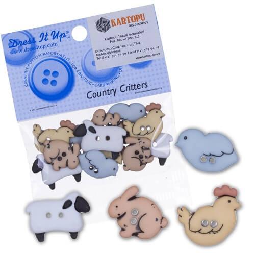 Dress It Up Hayvanlar Dekoratif Düğme - 4678