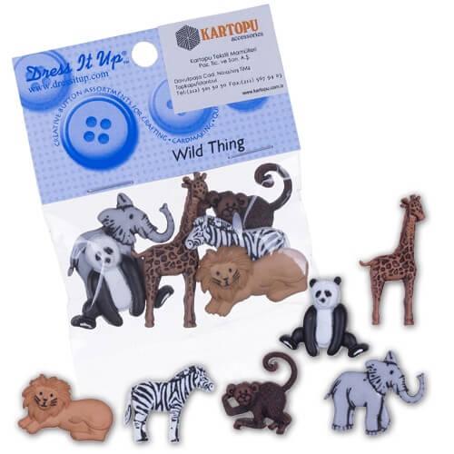 Dress It Up Karışık Hayvanlar Dekoratif Düğme - 3600