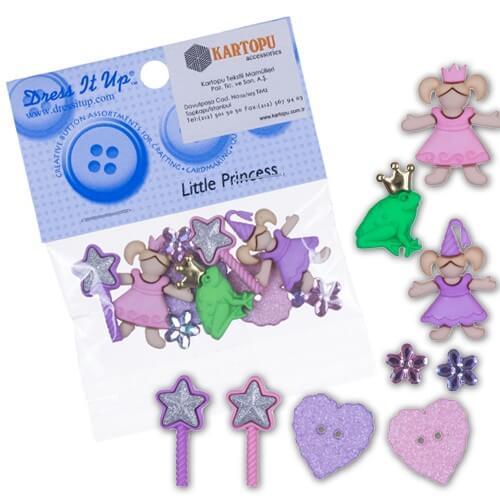 Dress It Up Küçük Prenses Dekoratif Düğme - 5812