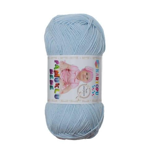 Kartopu Pamuklu Bebe Baby Cotton Mavi Bebek Yünü - K564