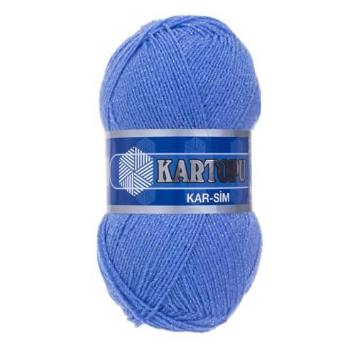 Kartopu 5'li paket Kar-Sim Mavi El Örgü İpi - K535