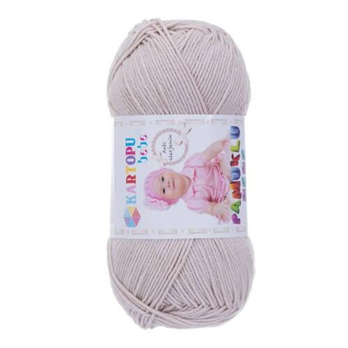 Kartopu Pamuklu Bebe Baby Cotton Bej Bebek Yünü - K855