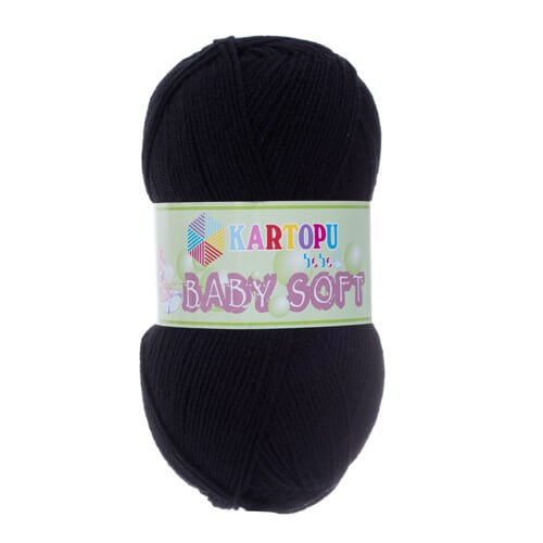 Kartopu 5'li Paket Baby Soft Siyah Bebek Yünü - K940