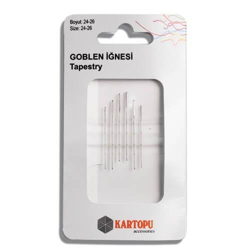Kartopu 6'lı 24-26 No Gümüş Goblen Etamin İğnesi - K002.1.0005