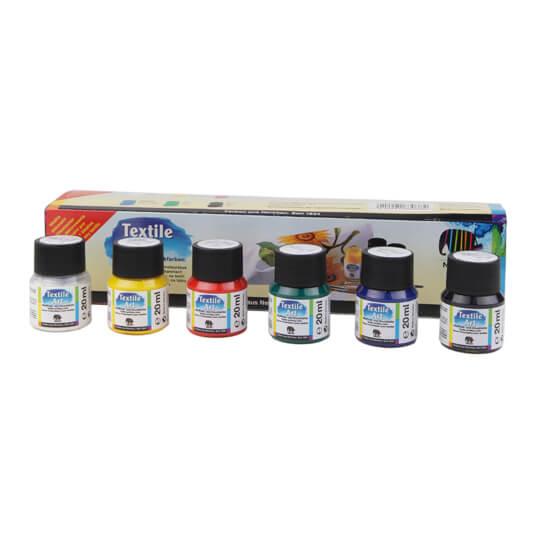 Nerchau 6 Renk Tekstil Kumaş Boyası