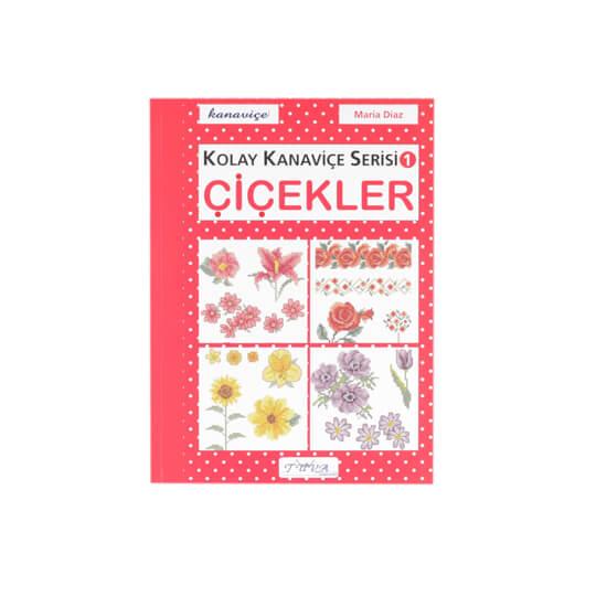 Kolay Kanaviçe Serisi 1 Çiçekler Nakış Dergisi - 5780