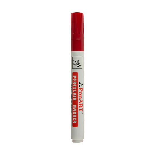 Ponart Kırmızı Porselen Kalemi