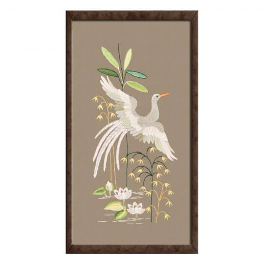 Duftin 40x50 cm Kuğu Desenli Tablo Çin İğnesi Nakış Kiti - 14336-AA0992